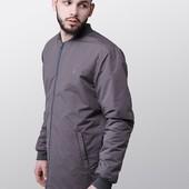 Удлиненная куртка-бомбер Grey