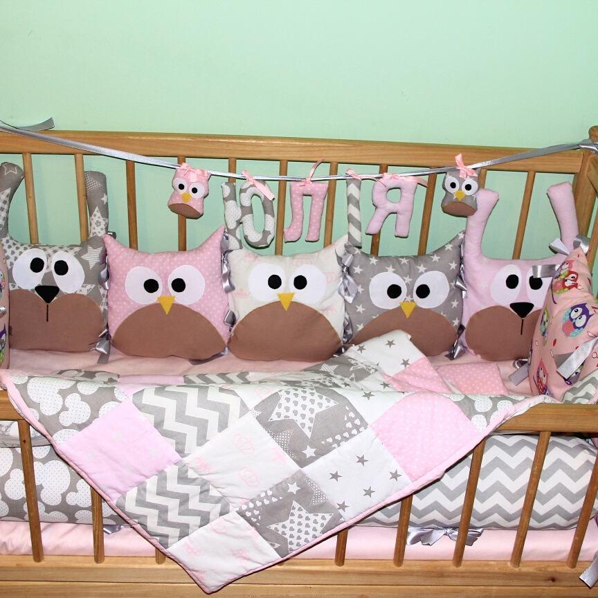 Бортики в дитяче ліжечко фото №1