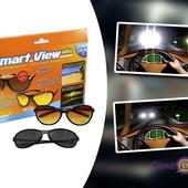 Солнцезащитные поляризационные очки для водителей Smart View Elite набор 2 пары