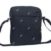 Стильная тканевая сумка для мужчин черного цвета (Т-1)