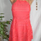 Новое кружевное яркое платье Boohoo