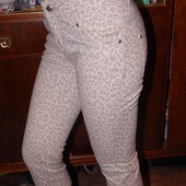 р. 152-158, Новые! очень узкие джинсовые капри Crash One леопардовые, новые
