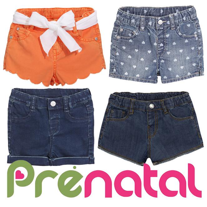 Шорти джинсові для дівчаток 3-36 місяців фірми prenatal італія фото №1