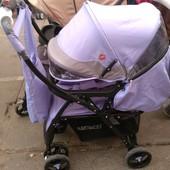 Прогулочная коляска Baciuzzi B14 с перекидной ручкой.сумка+дождевик
