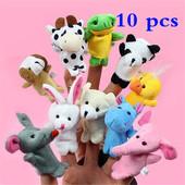 Забавные плюшевые пальчиковые игрушки для детей 10 шт.