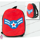 "Детский рюкзак ""Капитан Америка"" MP 1243, на молнии, 25х20х7см."
