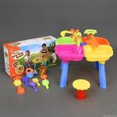 Столик игровой для песка и воды + стульчик 9810