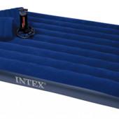 Матрас 68765 Intex 152х203х22 набор 2 подушки насос