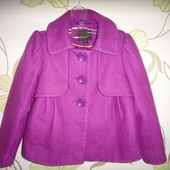 Шерстяное пальто Next 5-6 лет, 115 см