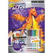 Интерактивная раскраска Crayola color alive Замки и Драконы с фломастерами