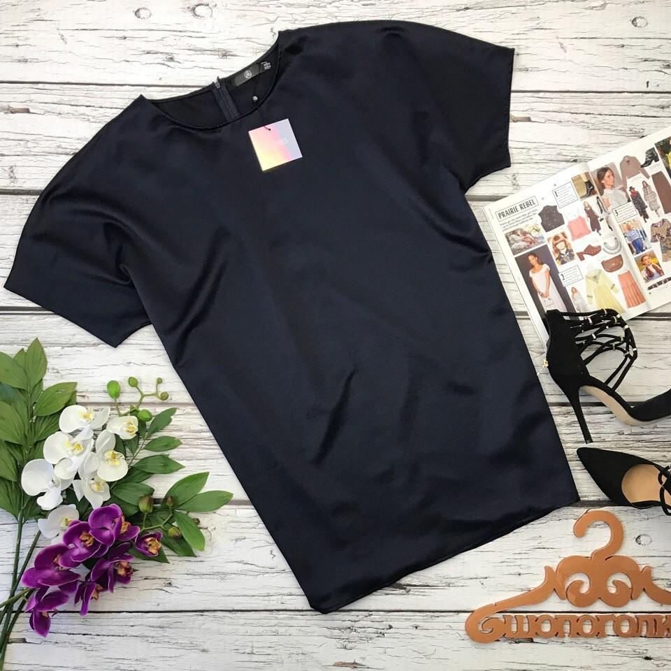 Лаконичная блуза прямого кроя из шикарного габардина   bd2411 фото №1