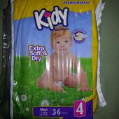 Памперс №4 Kidy 36 шт ( в остатке)