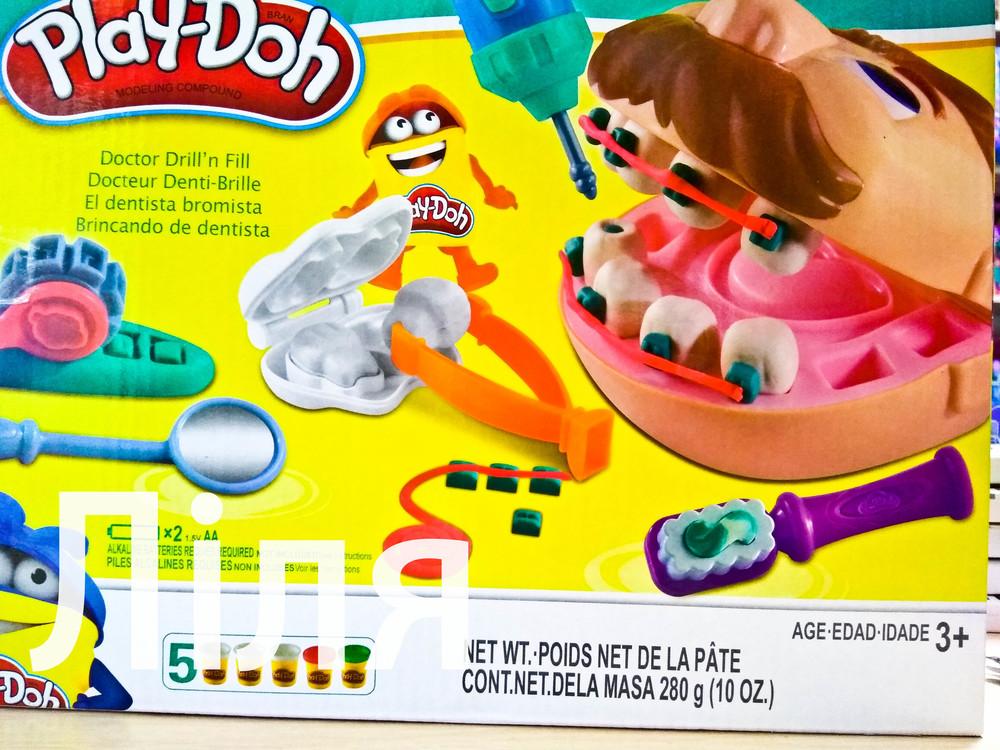 Набор пластилина доктор зубастик pd8605, play doh. акция от поставщика!!! фото №1