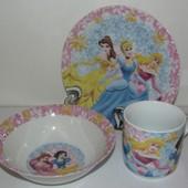 Набор детской посуды  Принцессы, Панда-Кунг Фу