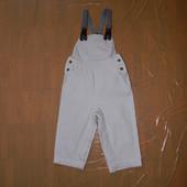 1-1,5 года, р. 80-86, джинсовый комбинезон ромпер Vertbaudet расстегивается между ножек