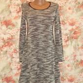 Платье с длинным рукавом . меланжевое р.10-12  Peacocks