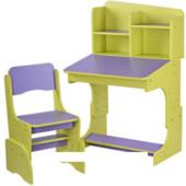 Детская парта растишка F 2071A-9-5, фиолетово-салатовая ***