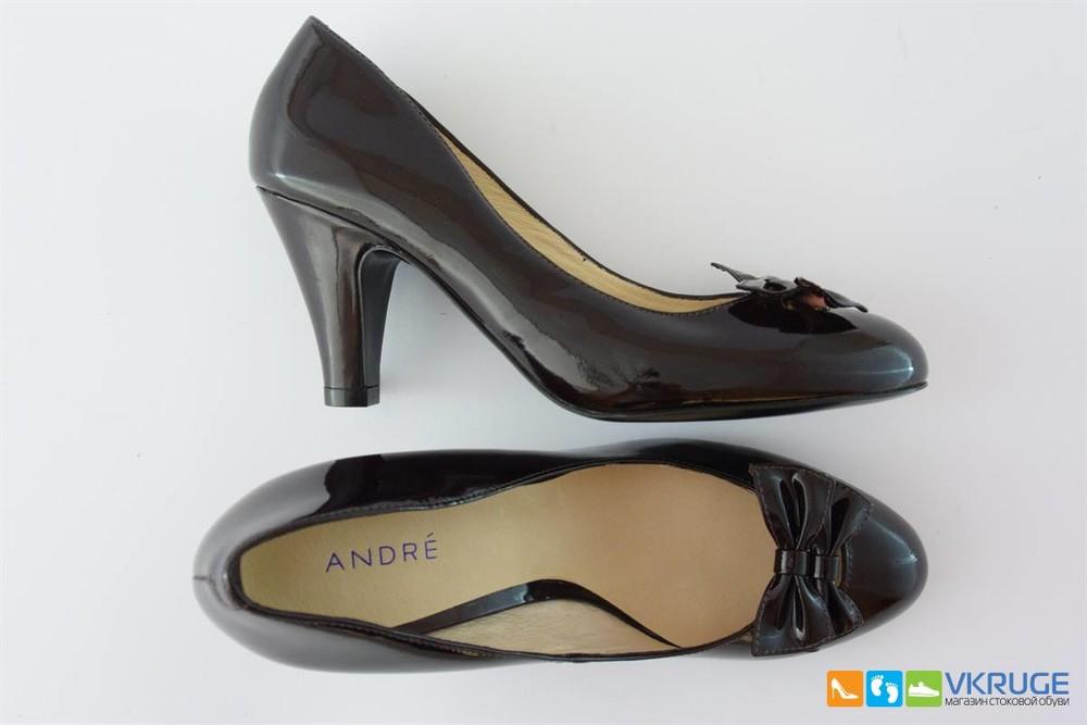 Туфли женские из натуральной лакированой кожи Andre 37 размер (арт. 2491) фото №1