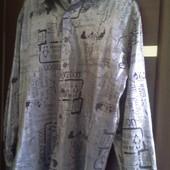 Шикарная мужская рубашка! Для смелых и уверенных парней! Отличное состояние