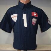 Распродажа! Мужская рубашка с коротким рукавом Vancouver Ski. Разные цвета.