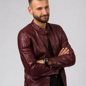 Мужская кожаная деми. куртка