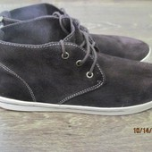 Замшевые ботинки р.44