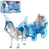 Карета 227A с лошадь крыльями и куклой ***