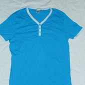 Бирюзовая мужская футболка,р-р М,от Topman,сток