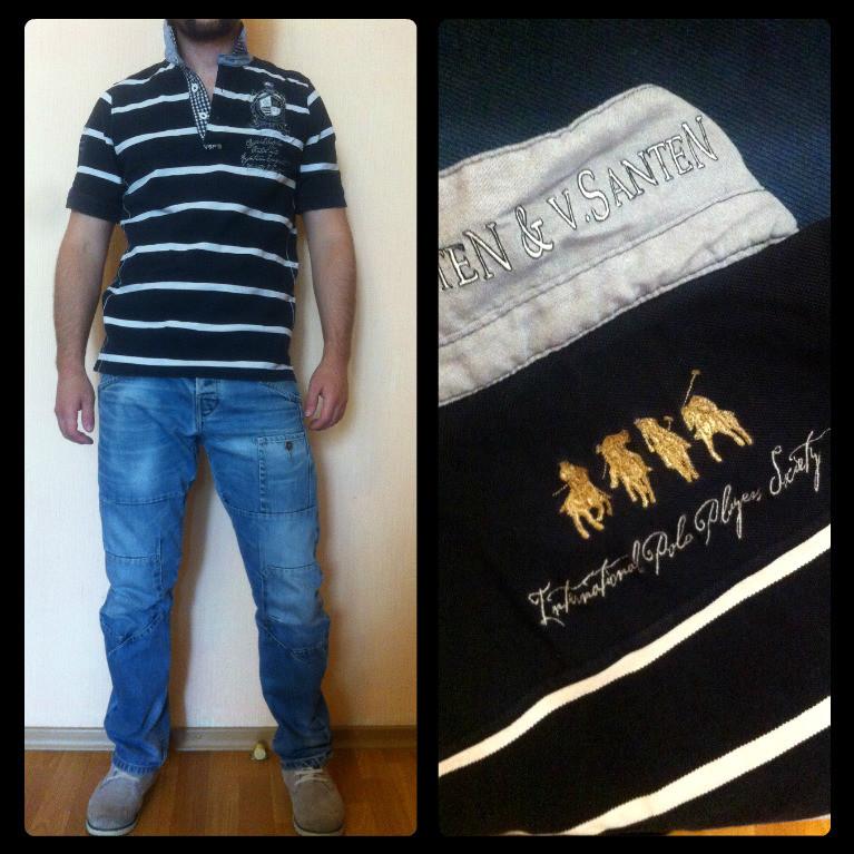 Стильная футболка поло Van Santen (L) фото №1