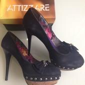Туфли Attizzare натуральная замша Италия Новая коллекция Будьте стильными!