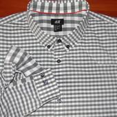 H & M ! Шикарная брендовая рубашка с подлокотниками ! - XL - L