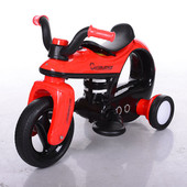 Детский электромобиль-мотоцикл Bambi 99123-3, черно-красный