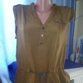 Стильная лёгкая блузка отличное состояние уп15