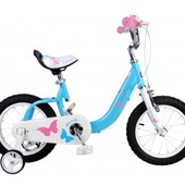 Детский велосипед 14 RoyalBaby Butterfly, девочки, роял, двухколесный
