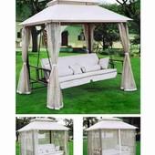 Садовая,двухспальная,кровать,диван,качеля,с,москитной сеткой,садовая,шатер,палатка