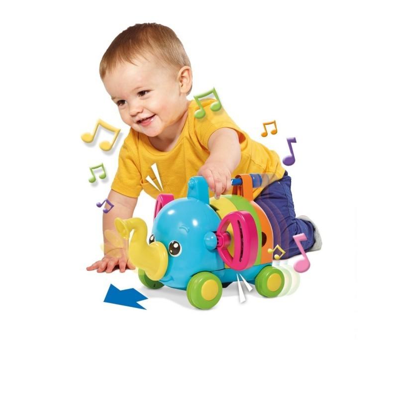 Развивающая игрушка музыкальный слоник tomy фото №2