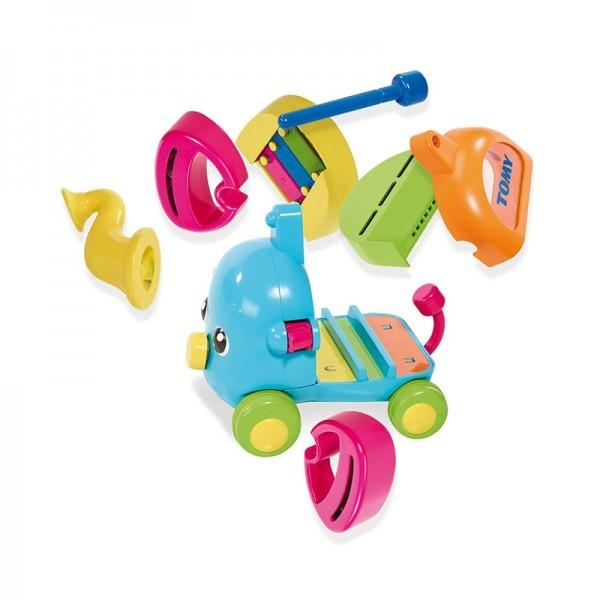 Развивающая игрушка музыкальный слоник tomy фото №3