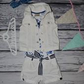 1 - 2 года 86 см Очень крутые шорты легкие на лето девочке яркие морские
