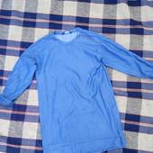 джинсовое легкое платье рубаха zara