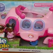 Музыкальный самолет игрушка для девочки Fisher Price Little People
