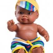 Пупс-мулат 22 см. от  Paola Reina Олмо Тео мальчик мулат темнокожий