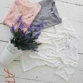 Женская футболка россыпь камней 42-46 (2б