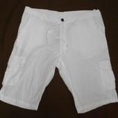 Белоснежные льняные мужские шорты Livergy р .52-54