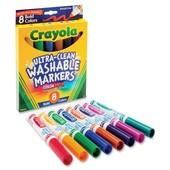 Смывающиеся Crayola Фломастеры маркеры, 8 цветов