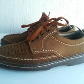 Кожаные туфли 41-42 р. Ручная работа.