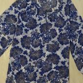 Симпатичная блуза батал, пляжная туника, р.22