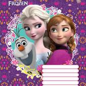 25шт Тетрадь школьная 12л. // 795079 Frozen Portrait 25шт.
