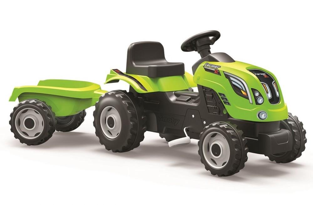 Трактор педальний з прицепом farmer xl smoby 710111 фото №1
