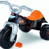 Fisher-Price велосипед- мотоцикл харли девидсон harley-davidson trike- children's tricycle- wide