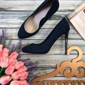 Эффектные туфли лодочки Faith с глянцевым каблуком  Faith